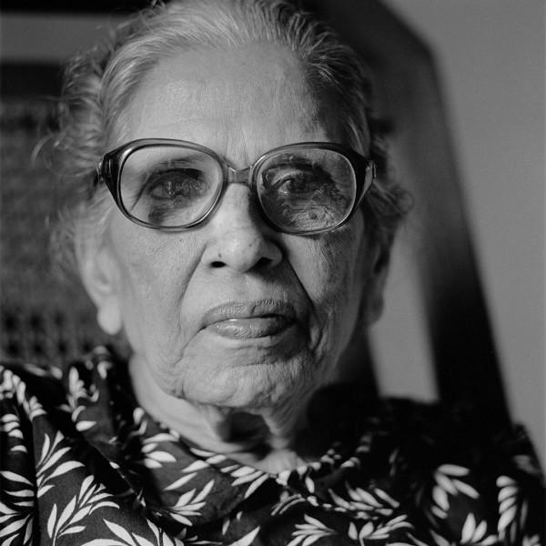 blinde vrouw, Kochi, 1996